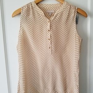 Banana Republic Silk short sleeve top